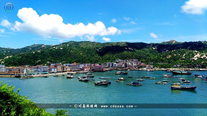 上川岛沙堤渔港